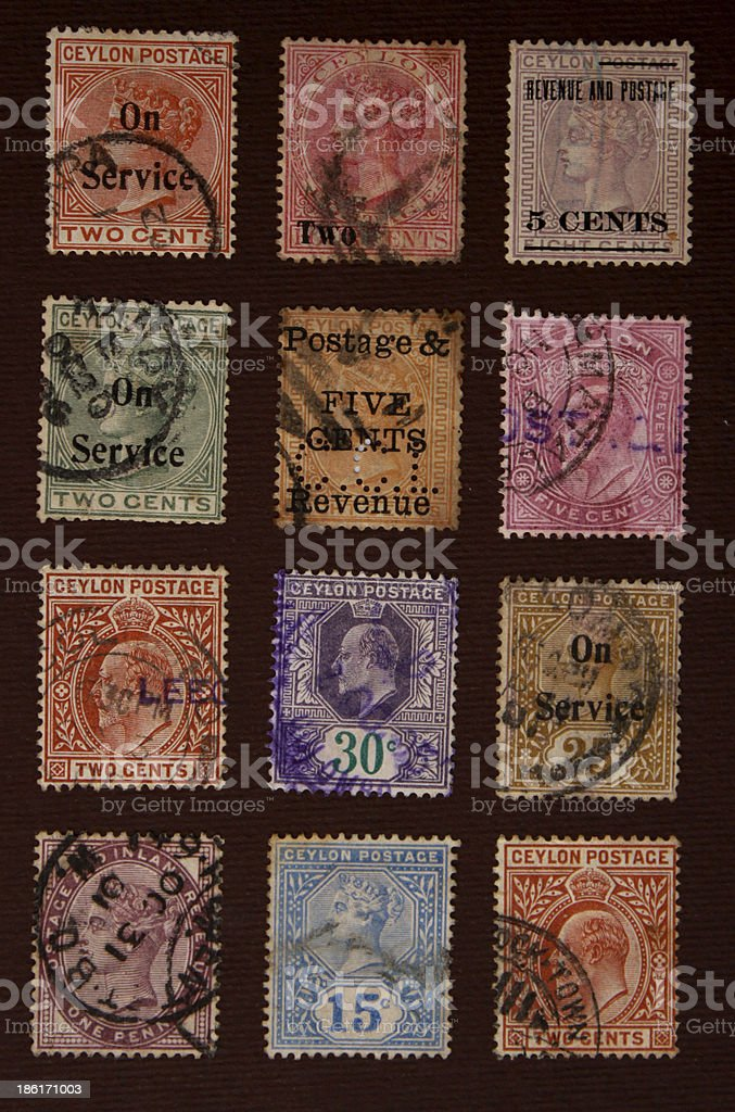 Old Stamps royalty-free stock photo