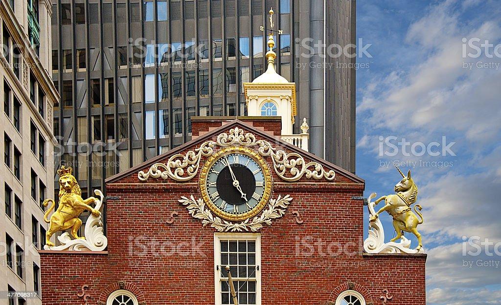 Old State House, Boston stock photo