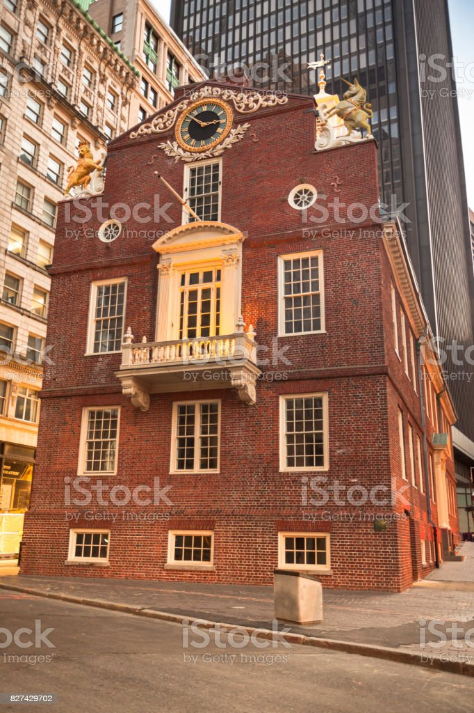 Old State House in Boston stock photo