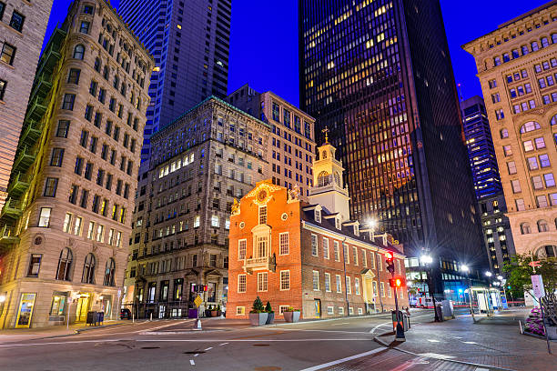 Old State House of Boston stock photo