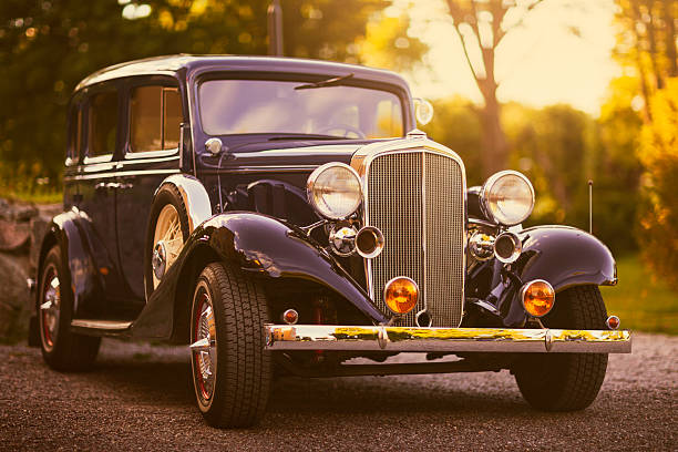 old station wagon - classic cars stock photos and pictures