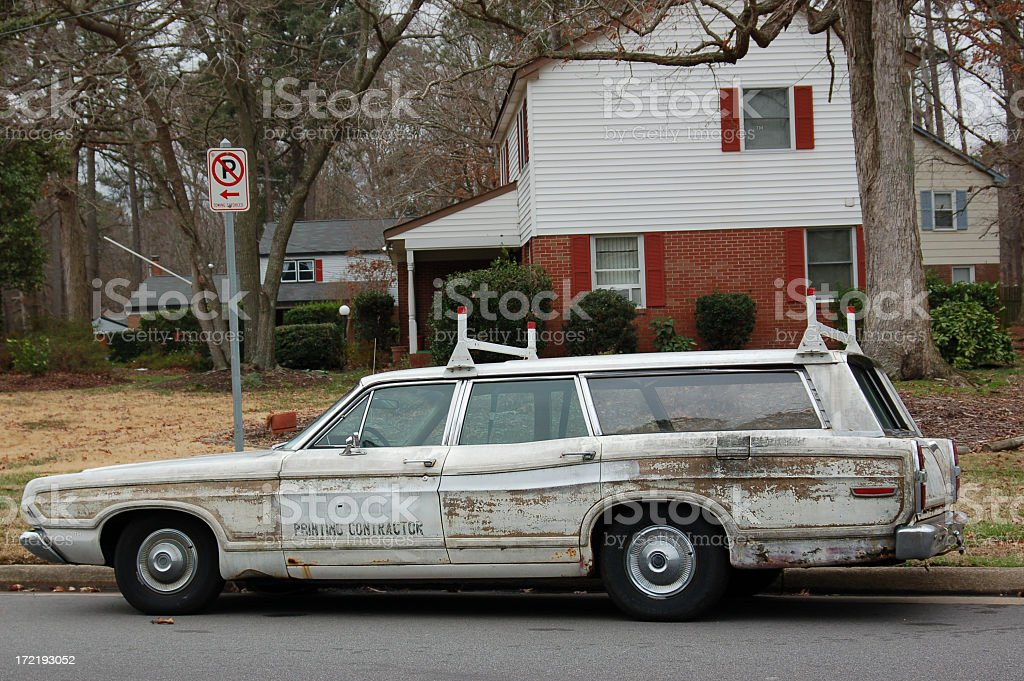 Old Station Wagon Seen Better Days Stock Photo & More Pictures of ...