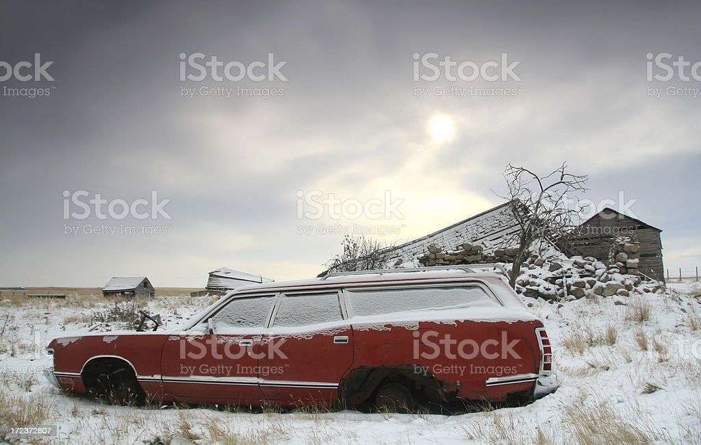 Old Stationwagon royalty-free stock photo
