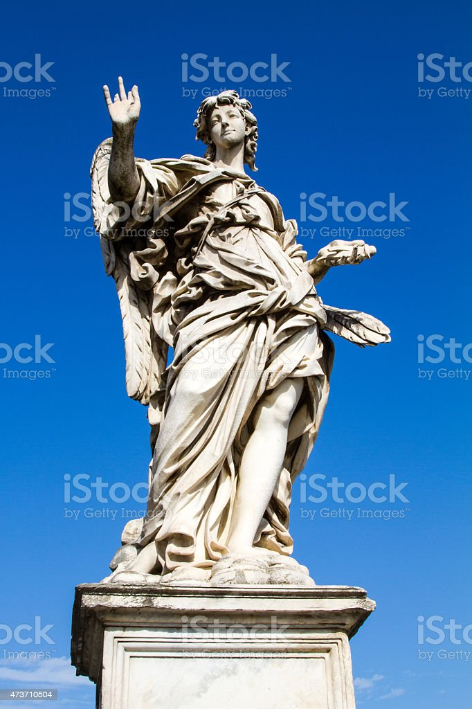 old statue at rome stock photo