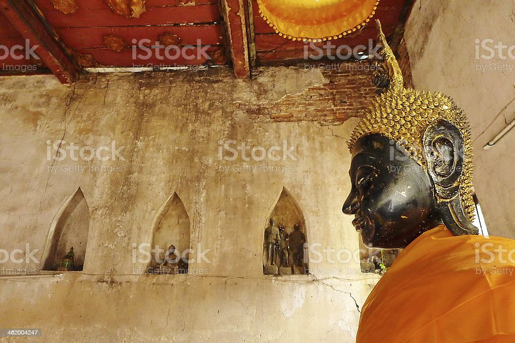 Old Statue Buddhist royalty-free stock photo