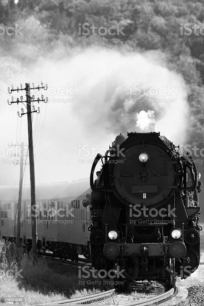 old steam engine stock photo
