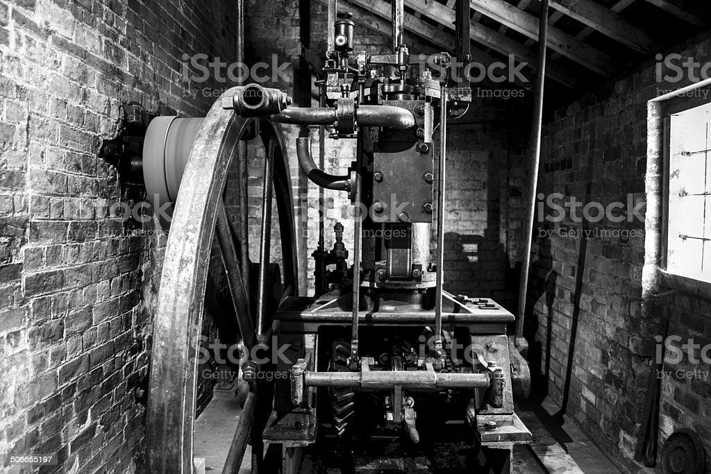 Antiga locomotiva a vapor - foto de acervo