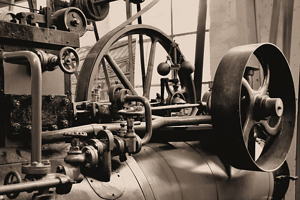 old steam engine - industrial revolution stock pictures, royalty-free photos & images