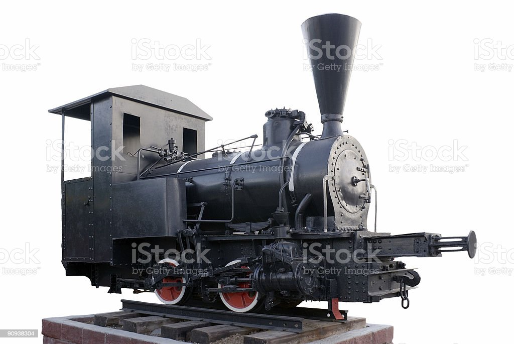 Old steam locomotive isolated royalty-free stock photo