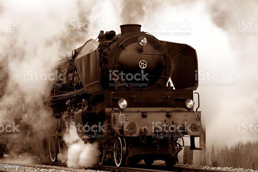 Alte Dampflokomotive - Lizenzfrei Altertümlich Stock-Foto
