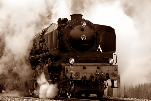 Alte Dampflokomotive Stockfoto und mehr Bilder von Altertümlich
