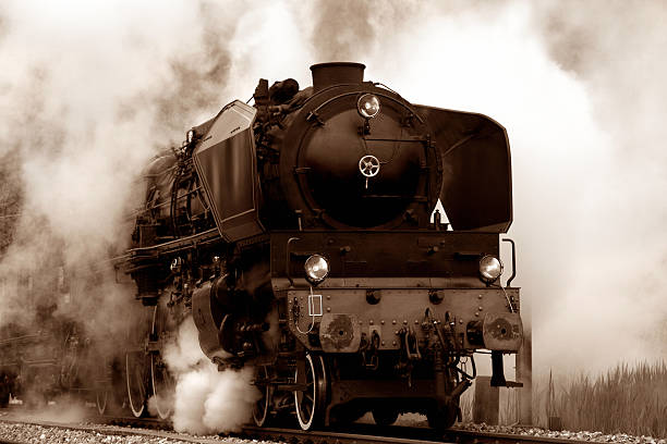 old steam locomotive - industrial revolution stock pictures, royalty-free photos & images