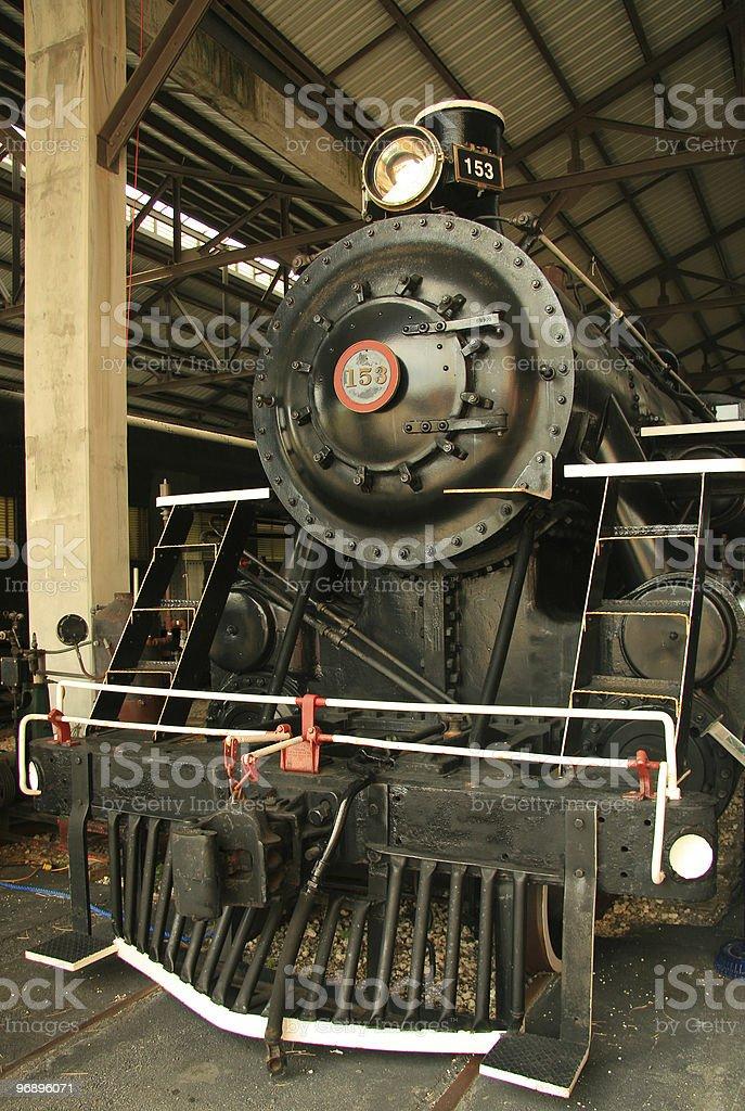 Old steam locomotive royalty-free stock photo