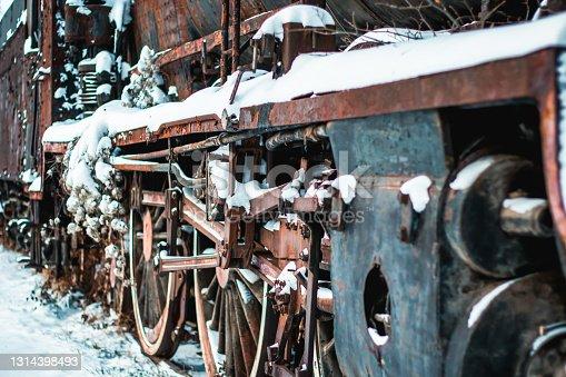 istock Old steam train 1314398493