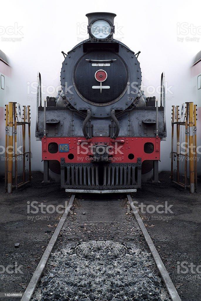 Old steam train stock photo