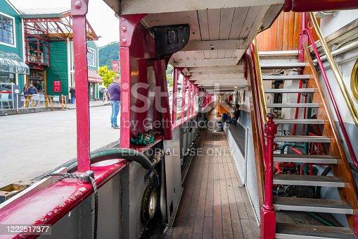 The inside of Old Steamer Earnslaw at Main Town Pier, Lake Wakatipu, Otago, New Zealand.