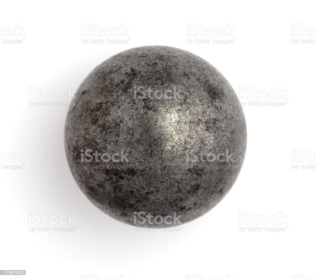 Old Steel Ball Bearing or Steely Marble stock photo