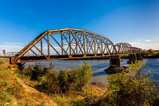 Old Steel Beam Railroad Bridge