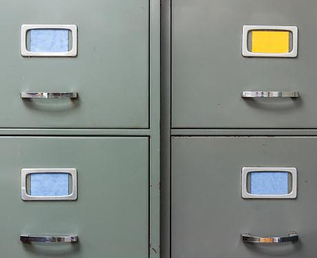 Old steel filing cabinet