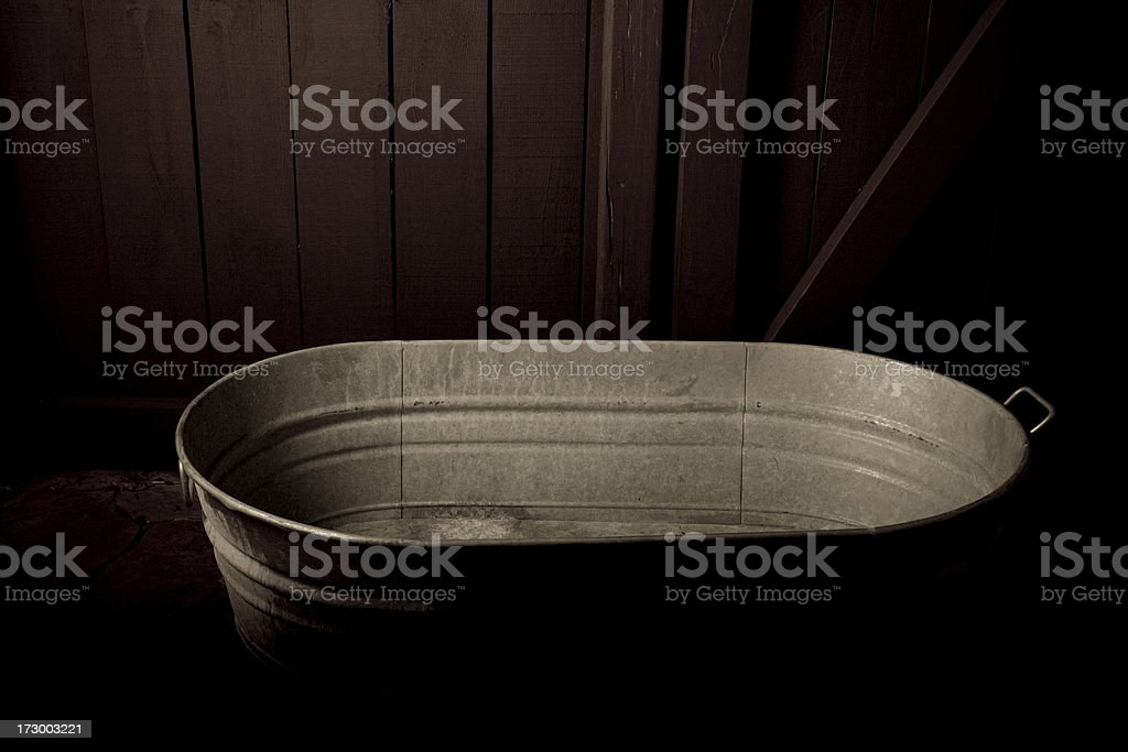 Old steel tub stock photo