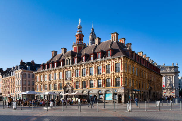 Old Stock Exchange of Lille stock photo