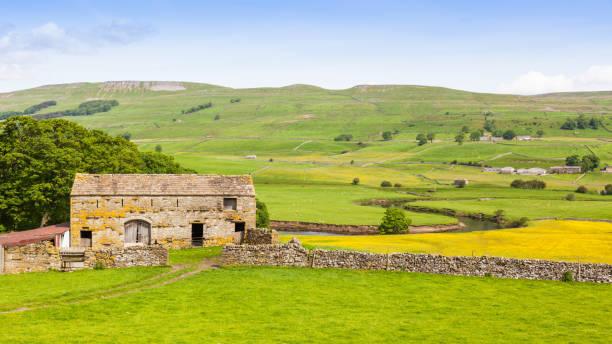 Ancienne grange en pierre dans le Yorkshire Dales - Photo