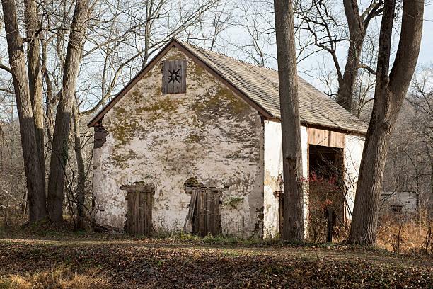 Old Stone Barn Ruin stock photo