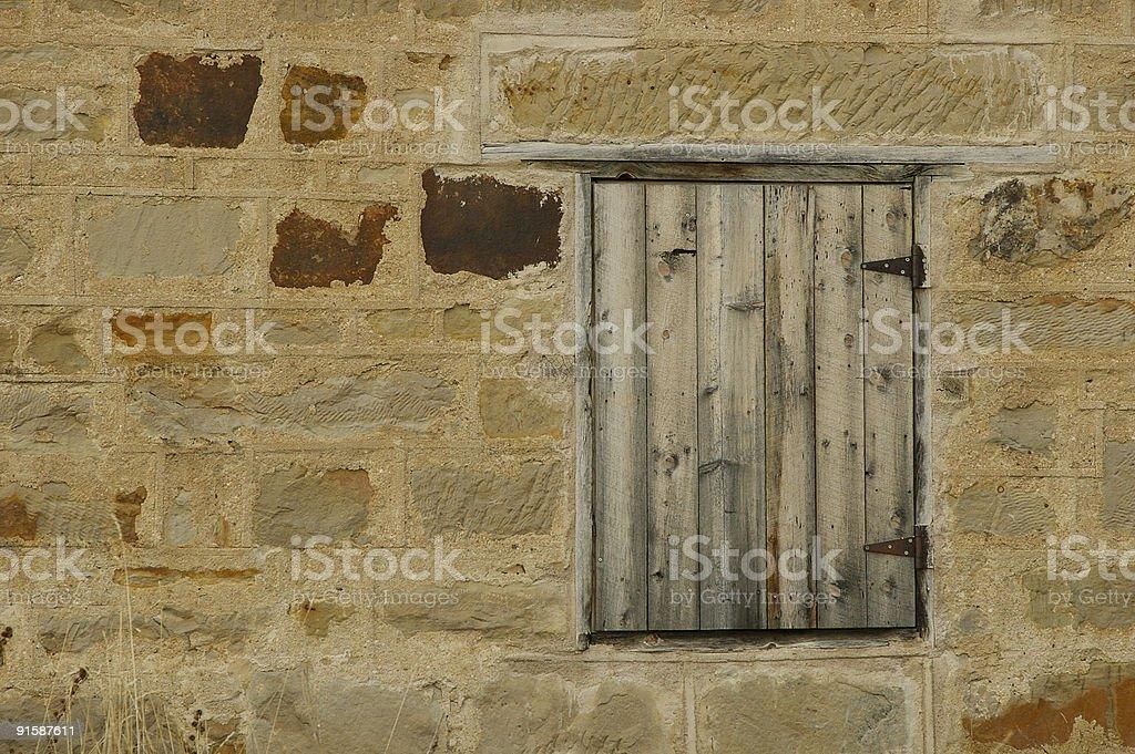 Old Stone Barn Wall stock photo