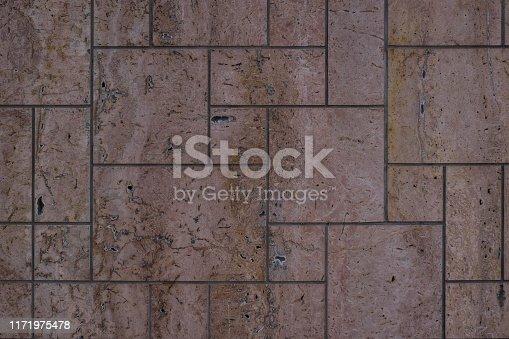 Old stone block wall. masonry texture, stonework pattern background.