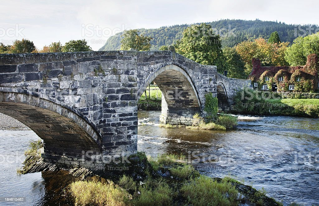 Old Stone Bridge HDR stock photo
