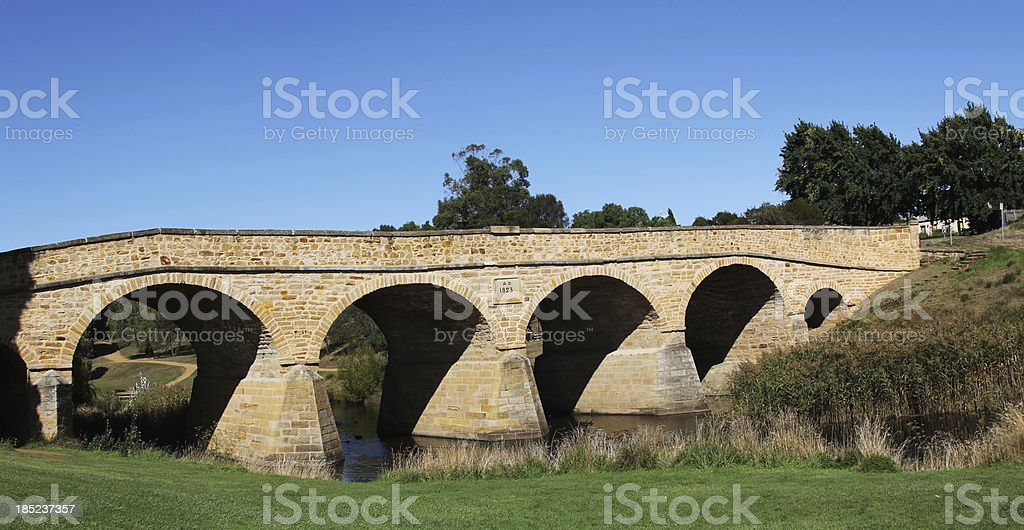 Old Stone Bridge Over a River royalty-free stock photo