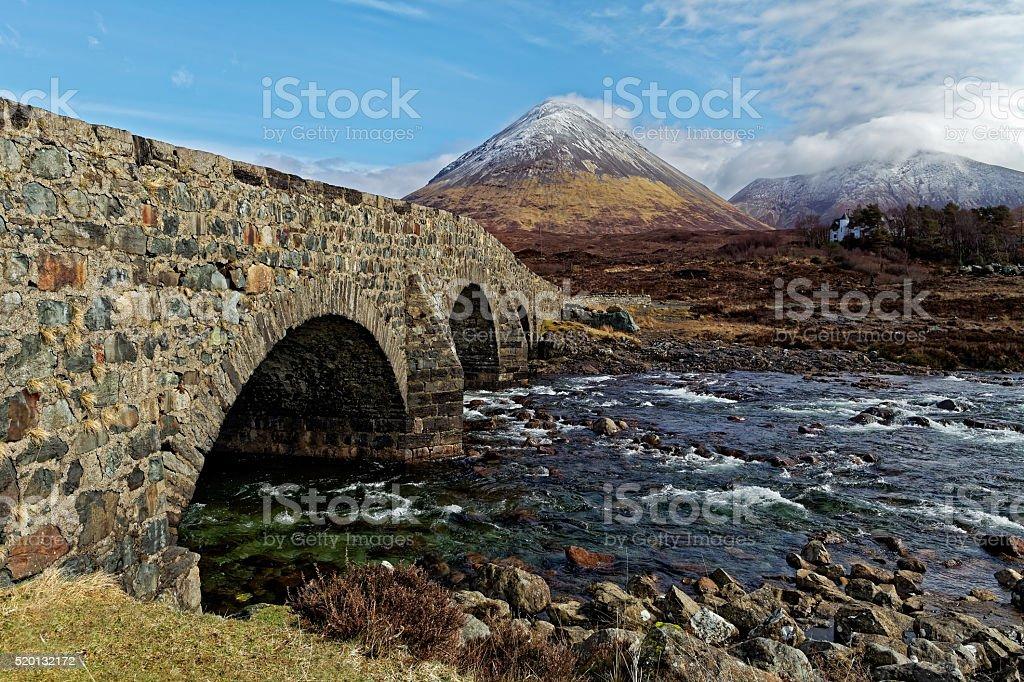 Old stone bridge stock photo