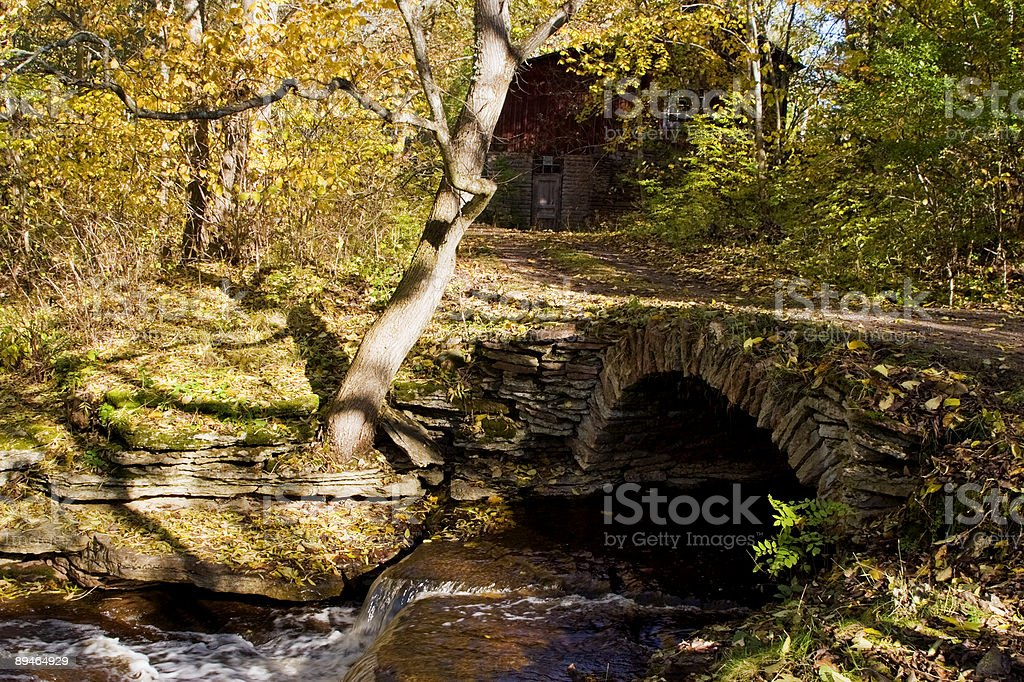 Old stone bridge royalty-free stock photo