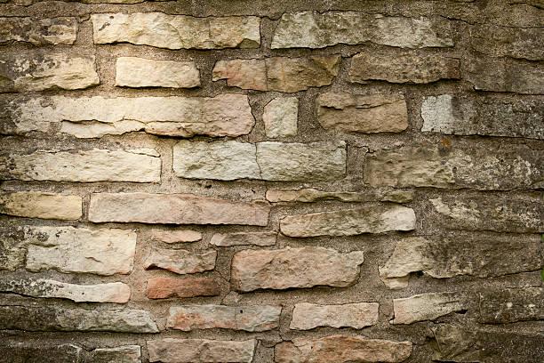 old stone chimney background stock photo