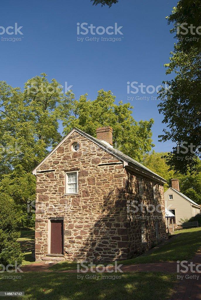 Old stone farmhouse royalty-free stock photo