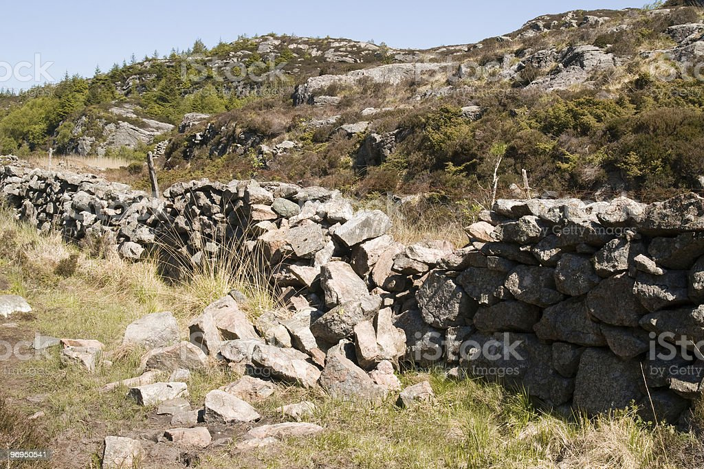 Old Stone fence royalty-free stock photo