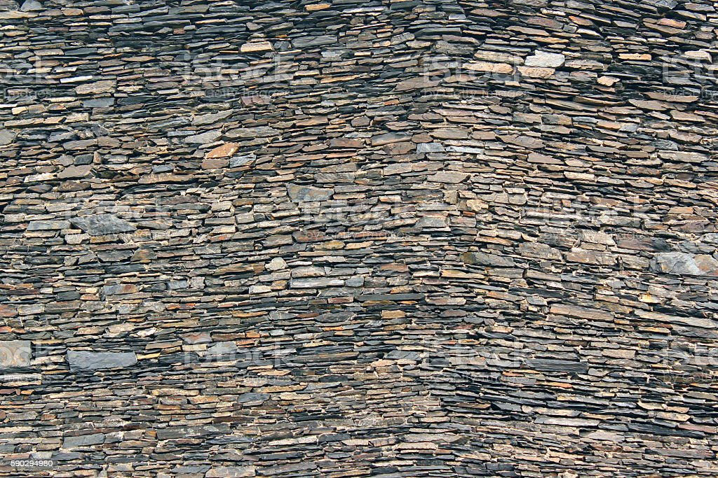 Old stone granite boulders and slabs wall texture background royaltyfri bildbanksbilder
