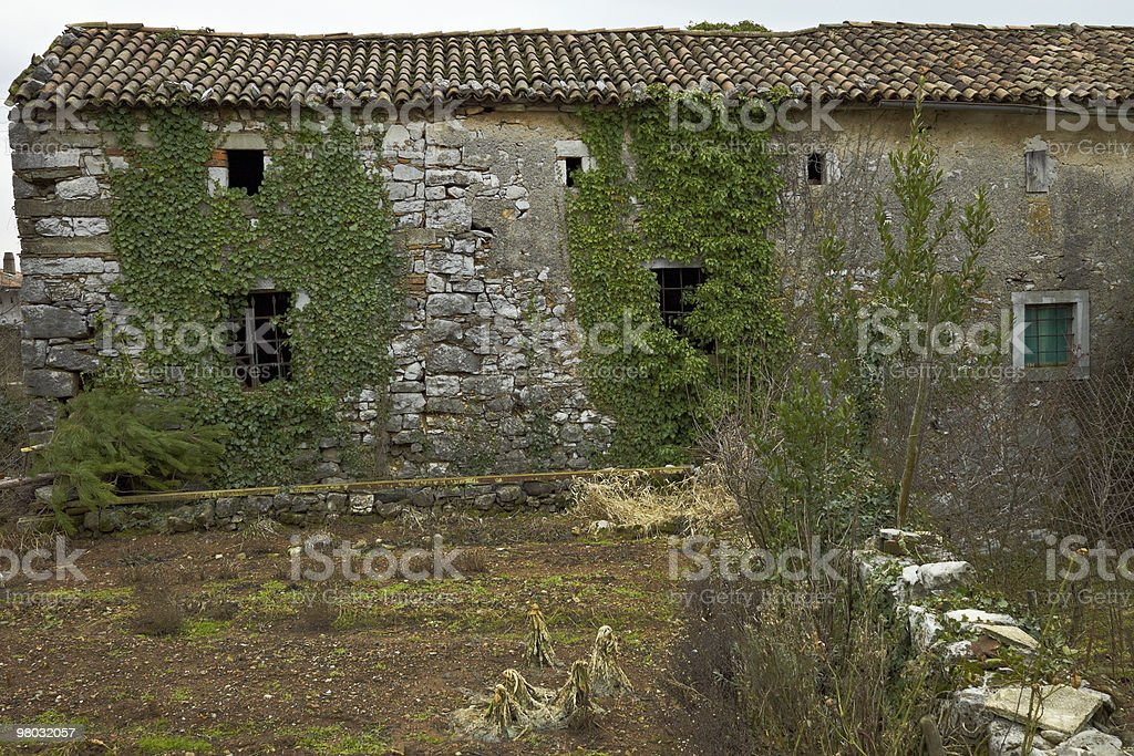 Old stone house in Kras royalty-free stock photo