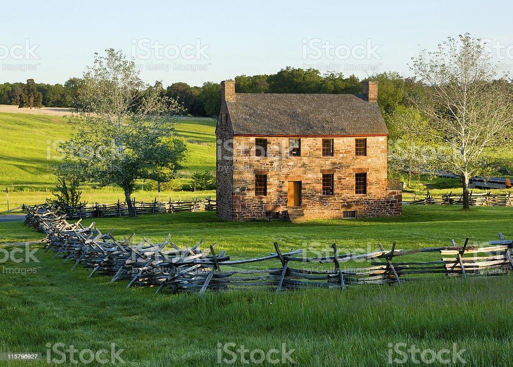 Old Stone House Manassas Battlefield stock photo