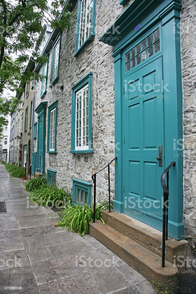 Old Stone House On Street royalty-free stock photo