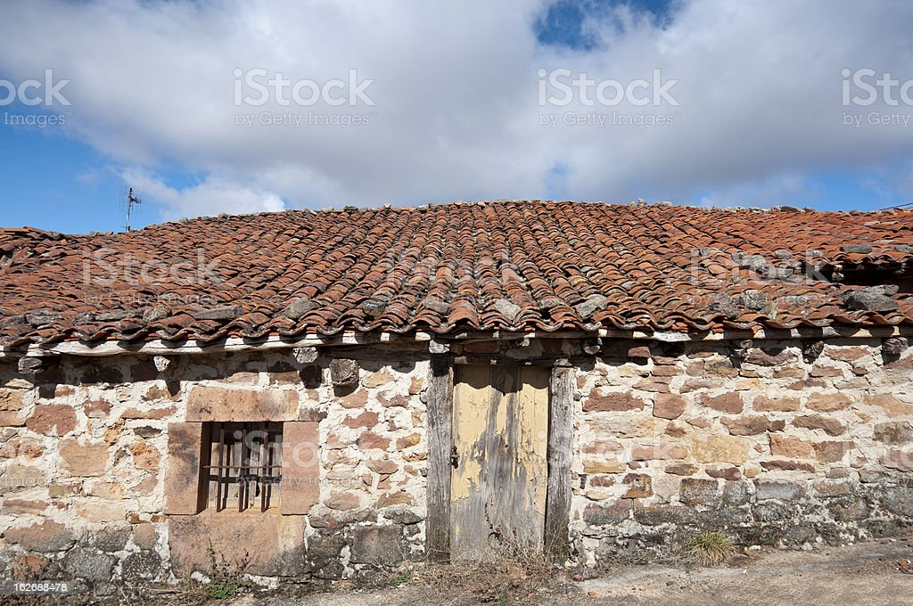Old stone houses royalty-free stock photo