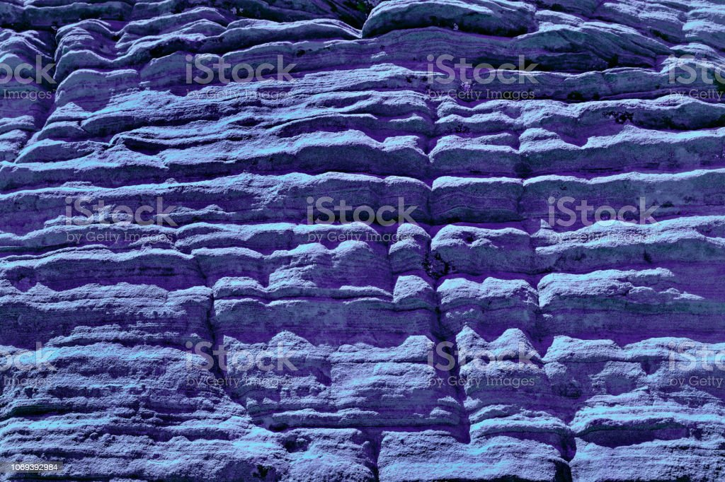 Old Stone Macro Background And Texture In Ultra Violet stock photo