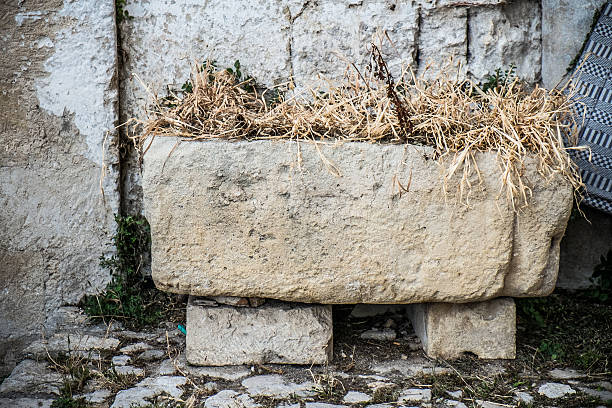 Old stone manger Old  stone manger in the old town of Matera trough stock pictures, royalty-free photos & images