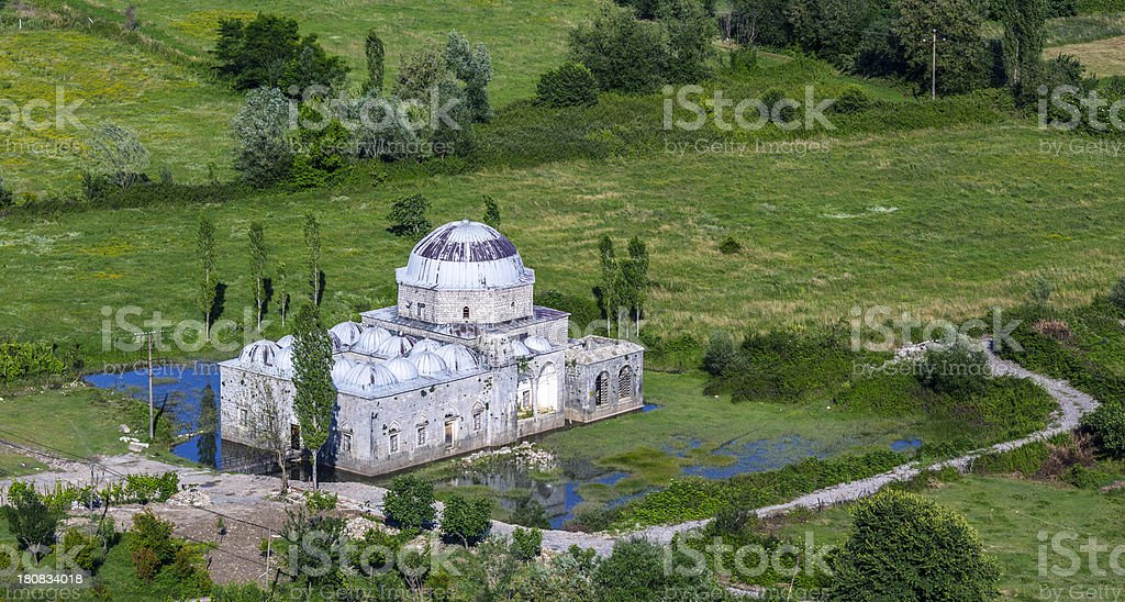 Old stone mosque in Albania stock photo