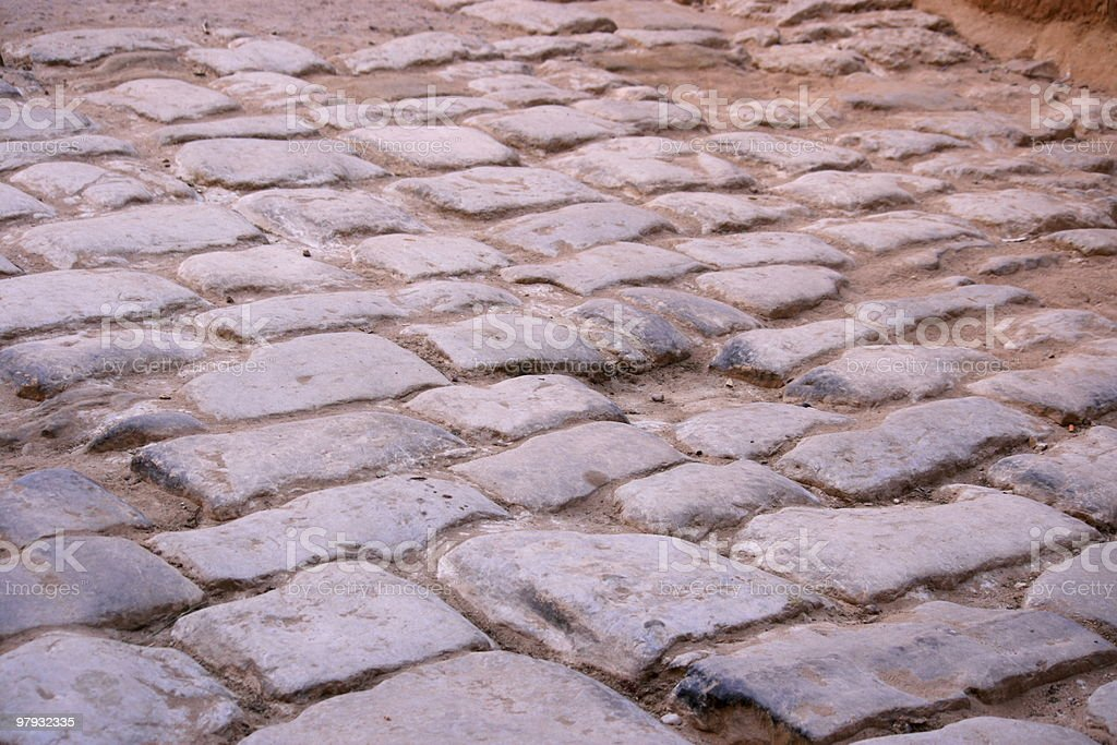 Old Stone Road royalty-free stock photo