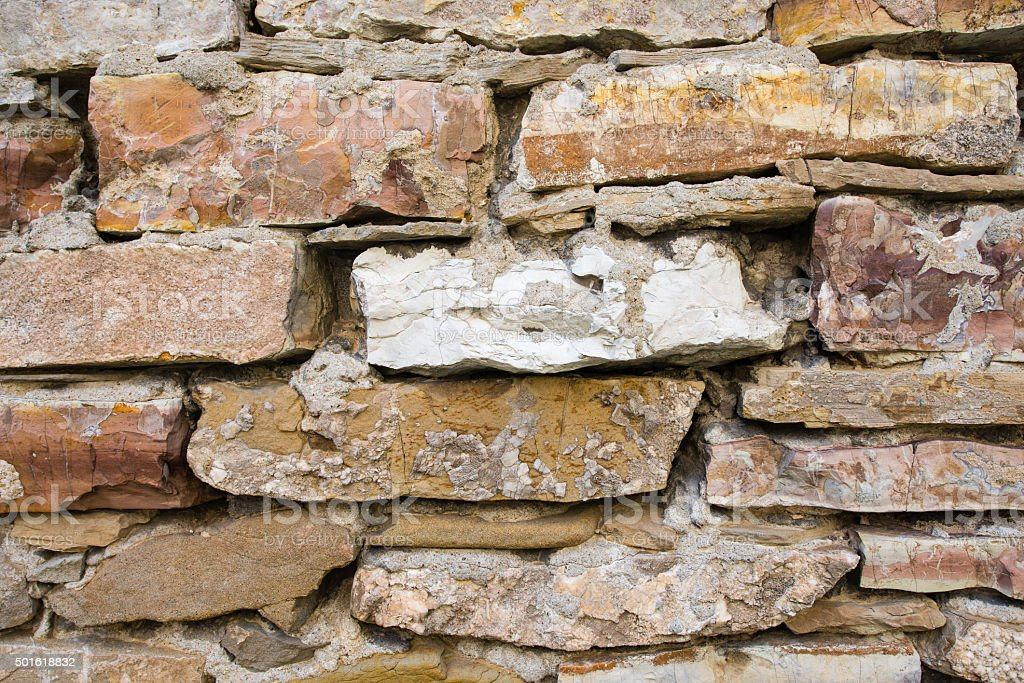 Old stone wall background stock photo
