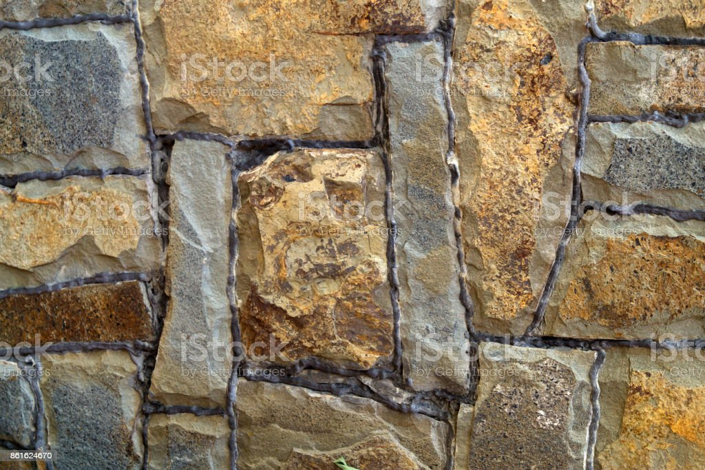 Old stone wall, background, texture stock photo