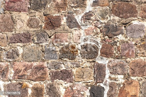 old stone wall, close up