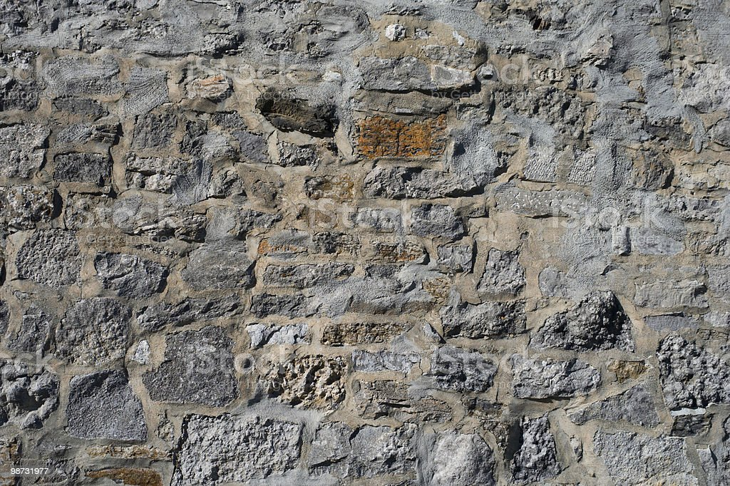 Old Stone Wall Detail royalty free stockfoto