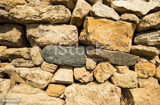 istock Old stone wall. Perfect for background 843246420